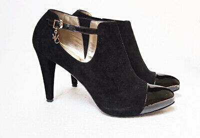2b6b47f18b3 BN VERSACE FOR H&M Suede And Patent Ankle Boots Sz 37 UK4 - £65.00 ...
