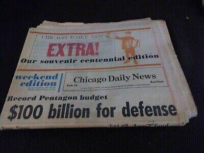 1976 Centennial Edition Chicago Daily News Newspaper History