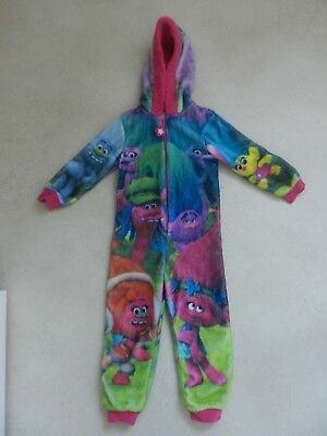 Girls Dreamworks Trolls Movie All In One PJ's Nightwear Fleece Age 5-6 Years