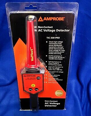 Amprobe TIC 300 PRO Non-Contact Low/High  Voltage Detector With Case NEW