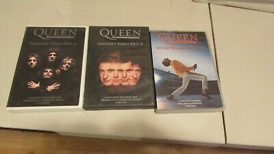Queen Greatest Video Hits1 & 2 DVD and Live At Wembly