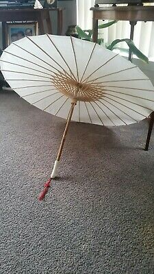 Fine Vintage Satin Parasol Umbrella Shop Display