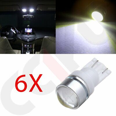 6x T10 194 168 LED 1.5W High Power W5W 579 Bulb White For License Plate Light