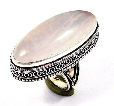 Sillimanite .925 Silver Awesome Carving Ring Jewelry JC7551
