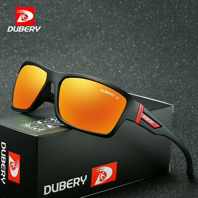 2019 DUBERY Men Sport Polarized Sunglasses Outdoor Riding Fishing Square Eyewear