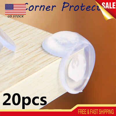 20pcs Silicone Table Corner Protector Protection Edge Cushions Cover Baby Safety