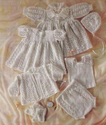 Gorgeous Vintage Baby copy  Lacy LAYETTE  Knitting Pattern 7 pieces