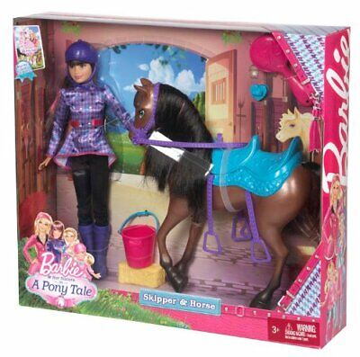 Barbie and Her Sisters in a Pony Tale Skipper and Horse Doll Playset