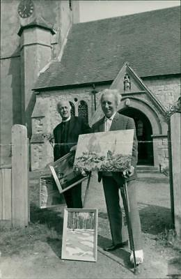 Jack Dash and Rev. Norman Hood. - Vintage photo