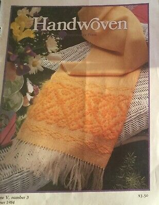 Weaving Magazines 1984 Handwoven Weaving Interweave Press