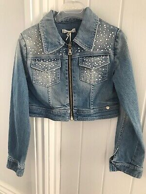 Miss Grant Couture Cropped Denim Jacket Size 6/7 Years
