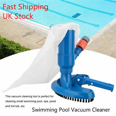 New Mini Jet Pond Spa Vacuum Cleaner+5 piece Pole Swimming Pool Hot Tub Super UK