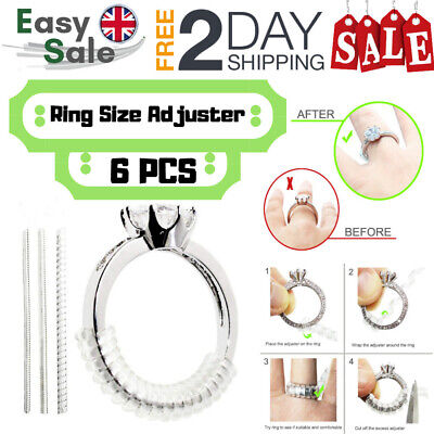 Ring Size Reducer Resizer Adjuster 6pcs Ring Size Clip Guard Invisible Design 27