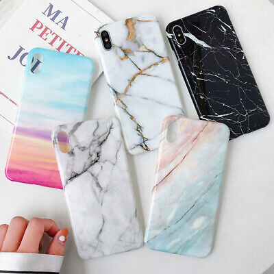 Granite Marble Pattern Glossy Soft Silicone Rubber Back Phone Case Skin Cover