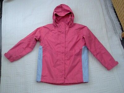 Peter Storm ... size 9 - 10 years  . GIRLS  PINK ZIP  JACKET with FOLD AWAY HOOD