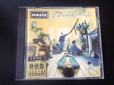 Tony McCarroll Autographed Hand Signed Oasis Definitely Maybe CD Noel Gallagher