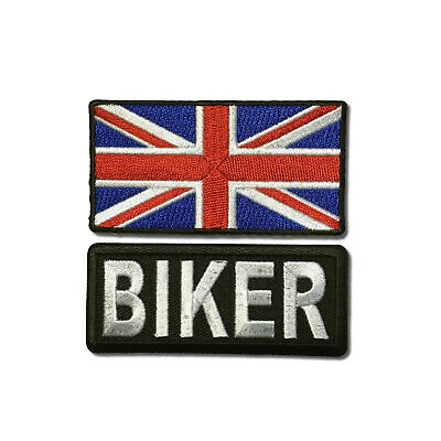 """Embroidered 3/"""" Yorkshire With UK Flag Sew or Iron on Patch Biker Patch Set"""