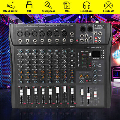 9-Channel Stage Studio Pro Audio Mixer bluetooth USB DJ Sound Mixing Console