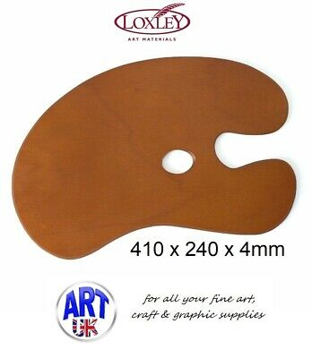 Loxley Professional Artists Wooden kidney Shape Palette For Oil/Acrylic Painting