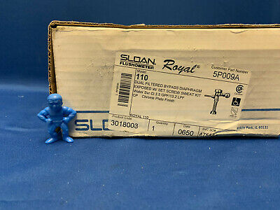 Sloan Flushometer Royal 3018003 Model: 110 Manual Flush Valve, Toilet, 3.5Gpf