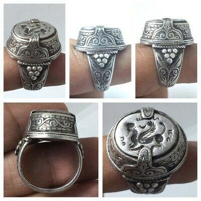 Very fine Sassanian solid silver ring