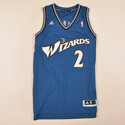 Adidas Herren Trikot Jersey Gr.L NBA Washington Wizards #2 J. Wall Blau, 74030