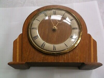 A  Small British Made Pretty Mantle Clock  Spares/Repair.working