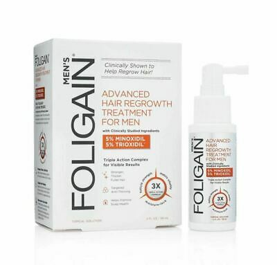 FOLIGAIN Advanced Hair Regrowth Treatment for Men Minox 5% & Triox 5% (2oz) 59ml