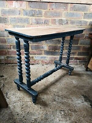 Vintage Side/Sofa Table with Bobbin Turned Legs in need of Restoration/Upcycling