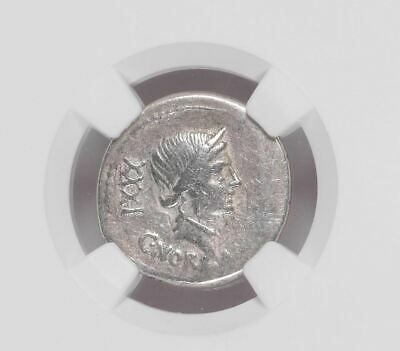 "NGC Roman Republic AR Denarius, C NORBANUS 83 BC, Caduceus, Graded ""CHOICE FINE"""