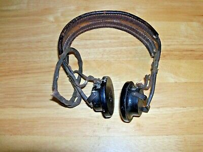 Vintage, WW2, US Army Signal Corp's Headset, Receiver, R-14