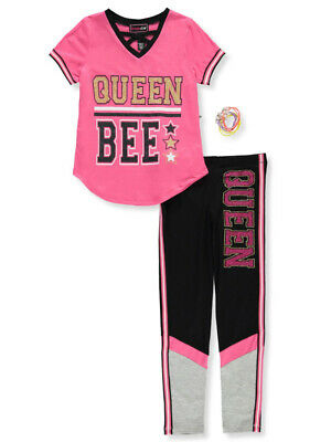 Dream Star Girls' 2-Piece Leggings Set Outfit with Bracelet