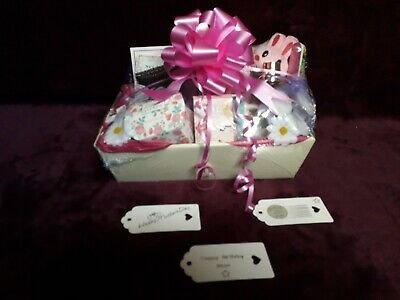 Tags New best Mum large gift hamper basket Christmas NEXT pink 24.99p xmas cream
