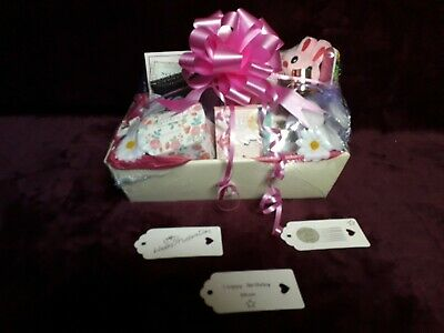 Tags New best Mum pink large gift hamper basket  Birthday NEXT 24.99p free post