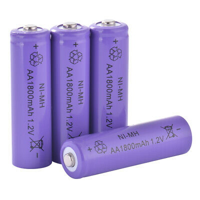 4pcs AA 1.2V 1800mAh Rechargeable Battery High Batteries for Light MP3 Toy BC969