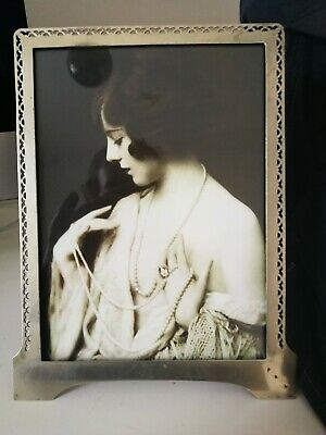 Decorative Silver Plated Art Deco , Marked Photo Frame