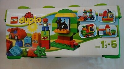 LEGO 10572 DUPLO My First All in One Box of Fun Brick Set. Easy Toy Storage NEW