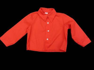 red vintage 70's boys shirt age 1-2 iconic pointed collar costume NWT's