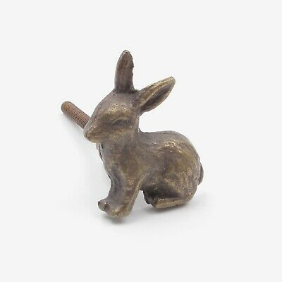 Antique Brass Bunny Rabbit / Hare Metal Knob, Pull, Handle, for Cupboards, Doors