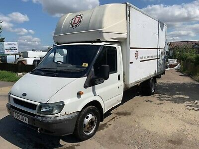 2001 ford transit t350 lwb 2.4 red luton