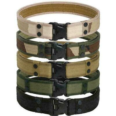 Outdoor Tactical Belt Men's Military Belts Army Canvas Adjustable Waistband V9A0