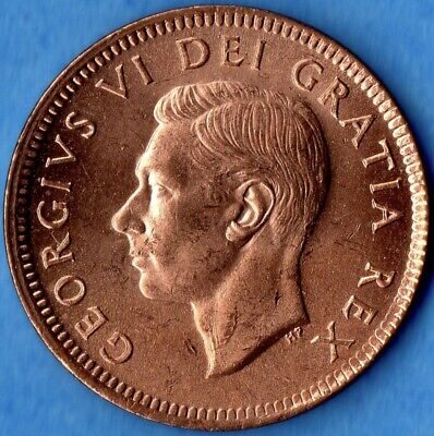 Canada 1952 1 Cent Small Penny Coin - BU From Original Roll!