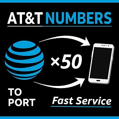 50 AT&T Numbers to Port - Bulk Order Fast Processing - Any Area Code | 50 Lines