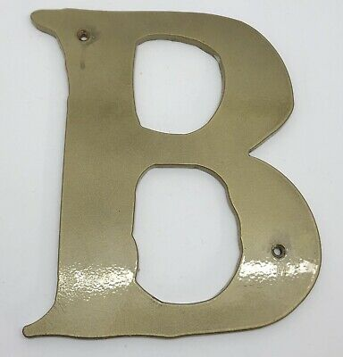 Metal B Letter Monogram Initial Wall Home Decor Or Business