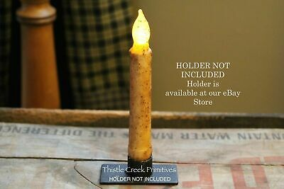 """Country 6.5"""" Battery TIMER Taper Candle - Burnt Ivory"""