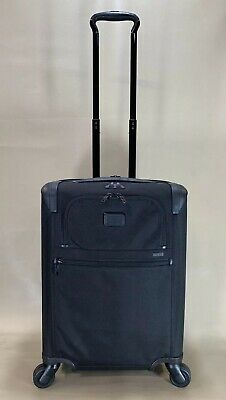 """Used Tumi 'Alpha 2' Continental 22"""" Black 4 Wheel Carry On Suitcase 22061D2 #547"""
