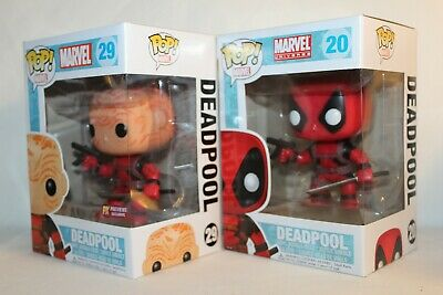 Funko Pop Marvel Universe Deadpool #20 & Px Preview Exclusive Deadpool #29 ~ New