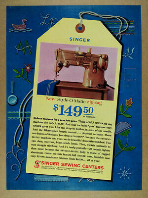 1961 Singer Style-O-Matic Zig-Zag Sewing Machine vintage print Ad