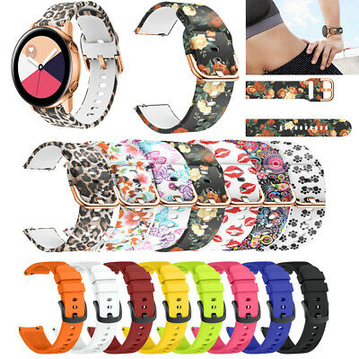 For Samsung Galaxy Watch 42mm/Active 40mm Fashion Silicone Watch Band Strap 20mm