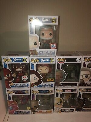 Marvel Funko Pop X Men Lot Of 9 Exclusive Hot Topic Nycc